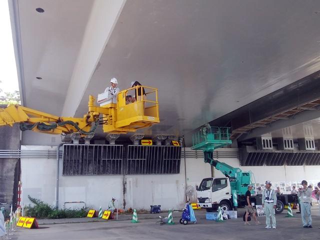 橘橋体験見学会&「道路老朽化対策」パネル展の開催